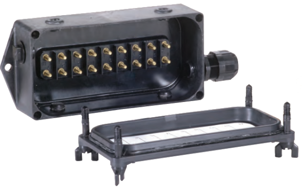 BETTS JUNCTION BOX COMPLETE UNIT - UNDRILLED