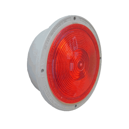 """BETTS RED, INCANDESCENT BULB, SHALLOW, STOP, TURN, TAIL, DOUBLE CONTACT W/(3) 18"""" PIGTAILS, 12-VOLT"""