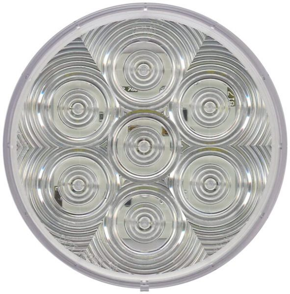 """LumenX 4"""" Clear Round Grommet Mount LED Combination Tail Light"""