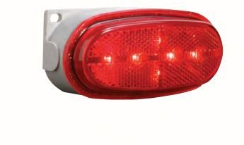 BETTS PLUG & SEAL 200 SERIES 12 INCH MALE PLUG LED MARKER LIGHT Red REFLECTIVE LENS SINGLE CONTACT